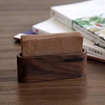 Wooden Business Card Box