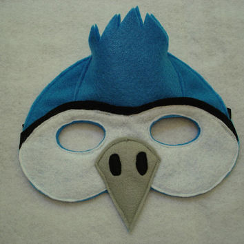Children's Blue Jay Bird Felt Mask