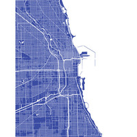 Chicago, Illinois Map Art Poster Print - customize your map, choose your color