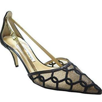 Jimmy Choo Black Lace Pointed Shoe 7
