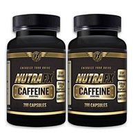 Caffeine Pills - Energy Booster, Endurance Enhancer and Mental Focus Supplement - 200 Mg Per Servings - 400 Capsules, By NutraFX