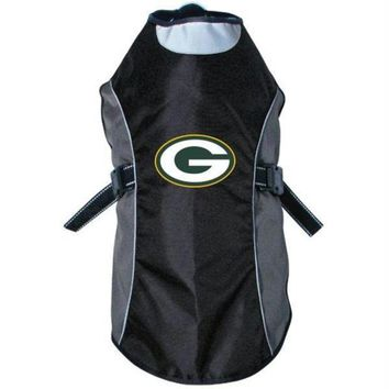 ONETOW Green Bay Packers Water Resistant Reflective Pet Jacket