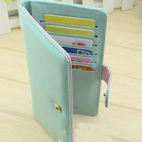Elegant Pure Sweet Crown Wallet Billfold-Light Green from styleonline