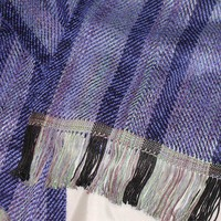 Handwoven Scarf in Bamboo and Rayon (828)
