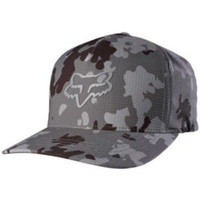 Fox Racing Mens Stepped Up Flexfit Hat Large/X-Large Grey