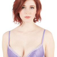 ModCloth Boudoir Glowing Grace Push-Up Bra in Lilac