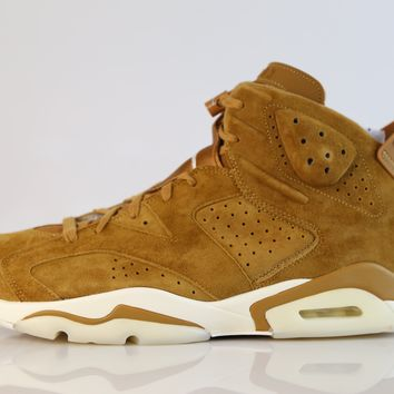 BC QIYIF Nike Air Jordan Retro 6 Golden Harvest Wheat Suede 384664-705 2017 (NO Codes)
