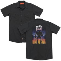 Iron Giant - Poster (Back Print) Adult Work Shirt