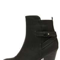Swoon Walker Black High Heel Ankle Boots