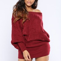 Maree Sweater - Burgundy