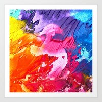 BRIGHT ABSTRACT PAINTING Art Print by digitaleffects