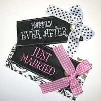Honeymoon Luggage Tag: Choose Just Married or Happily Ever After Luggage Tag