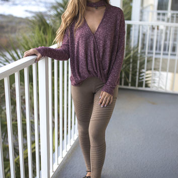 Tuned In Taupe Leggings
