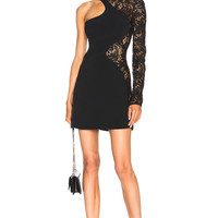 David Koma Lace Sleeve Mini Dress in Black | FWRD