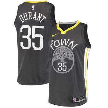 Kevin Durant Golden State Warriors # 35 Nike Black Swingman Statement Edition Jersey