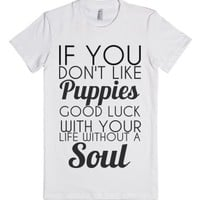 Puppies-Female White T-Shirt