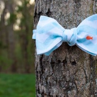 Aqua White Fish, Goldfish, - Men's Adjustable Self Tie  Bow Tie