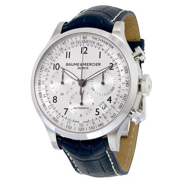 Baume and Mercier Capeland Leather Chronograph Automatic Watch MOA10063