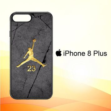 Air Jordan 23 Gold Z5304 iPhone 8 Plus Case
