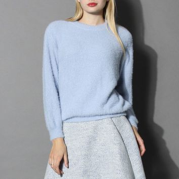 Comfy and Fluffy Jumper in Blue