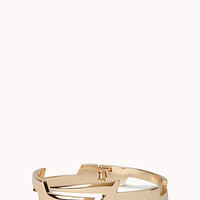 FOREVER 21 Lightning Bolt Cuff Gold One