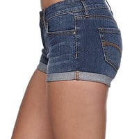 Bullhead Denim Co Low Rise Double Roll Cuff Shorts at PacSun.com