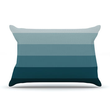 "Trebam ""Cijan"" Navy Teal Pillow Case"
