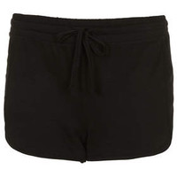 Seam Panel Runner Shorts - Black