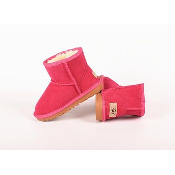 """UGG"" Winter Trending Women Stylish Wool Snow Boots Rose Red"