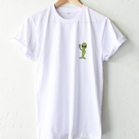 Alien Patch Tee - White