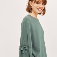 Tie Sleeve Blouse - Shirts & Blouses - Clothing