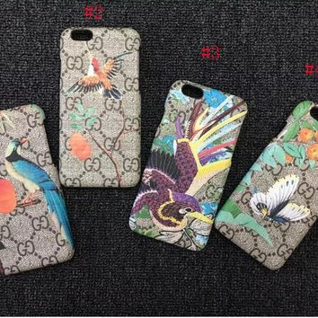 GUCCI Flower Embroidery iPhone Phone Cover Case For iphone 6 6s 6plus 6s-plus 7 7plus