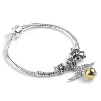 Harry Potter Silver Bracelet and Charms HP010 by clairereilly2