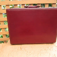 Vintage Briefcase / 50s Leather Briefcase by Shortrip / Gorgeous / Classy