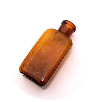 Small Brown Apothecary Bottle, Old Brown Glass Bottle,  Bottle, Brown Glass Bottle, Medicine Bottle, Antique Brown Glass Bottles