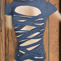 stripe top by saravah on Etsy