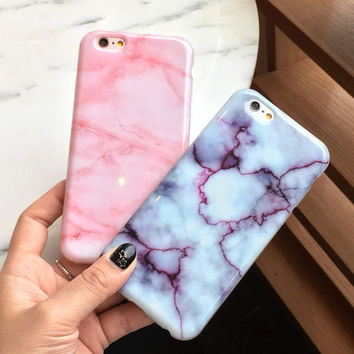 New Hot Unique Pink Marble iPhone 5s se 6 6s Plus Case -0321