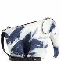 Elephant Mini denim shoulder bag