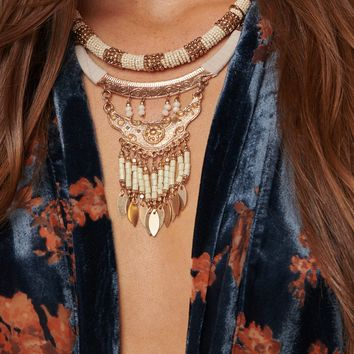 Emory Statement Necklace (Gold)