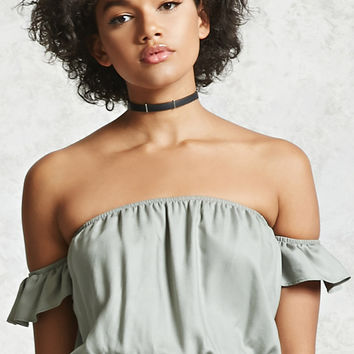 Off-the-Shoulder Crop Top - Women - New Arrivals - Tops - 2000321642 - Forever 21 Canada English