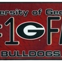 Georgia Bulldogs #1 Fan License Plate | UGA #1 Fan License Plate | Georgia Fan License Plate