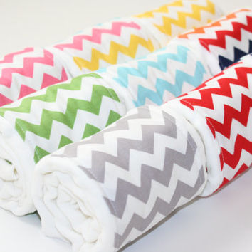 Chevron Baby Burp Cloths - Riley Blake Set of 3 (Your Choice)