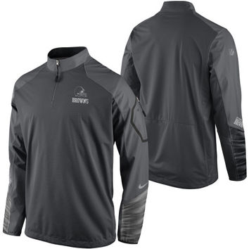 Cleveland Browns Nike Platinum Fly Rush 2.0 Pullover Jacket - Charcoal