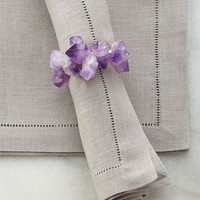 JOSEPH WILLIAMS Purple Amethyst Napkin Ring