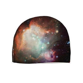 Space All Over Child Fleece Beanie Cap Hat All Over Print by TooLoud