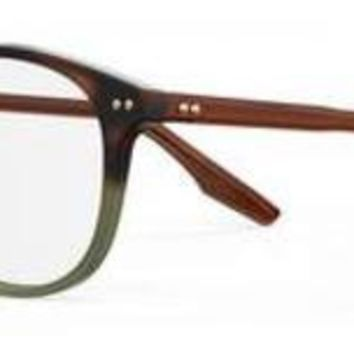 Safilo - Tratto 07 Havana Green Eyeglasses / Demo Lenses