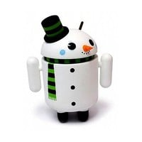 "Android Flakes Snowman 3"" Inch Mini Collectible Special Edition Figure Andrew Bell Gary Ham"