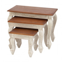 Distressed Country Nesting Tables - Set of 3