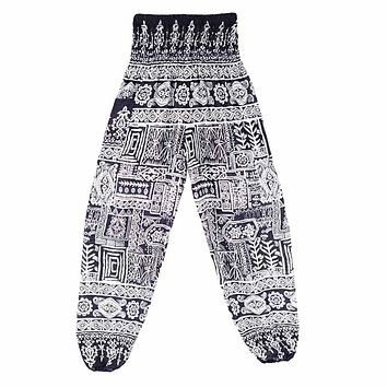Men Women Thai Harem Pants Hippy Smock High Waist Yoga Pants