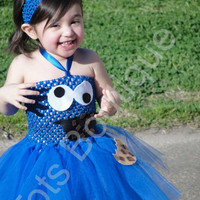 Tutu Dress - Cookie Monster Inspired - Infant